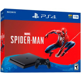 Playstation 4 Slim 1tb Con Juego Spiderman Ps4 Obsequio Tula