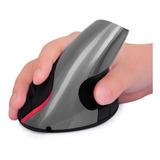 Mouse Vertical 5 D Inalámbrico Ergonómico Recargable Negro