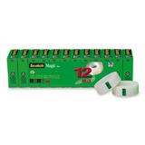 Scotch Magic Tape, 3/4 X 1000 Pulgadas, En Caja, 12 Rollos