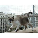 Malla Transparente Cerramiento Mascota , Gatos 10 Metros