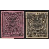 Estampillas Timbre 20 Centavos Y 1 Peso 1893 - 1894