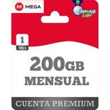 Cuentas Premium Mega 1 Mes Oficial 200gb Envío Inmediato