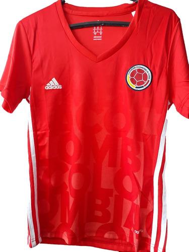 cd959e2eb Camiseta Selección Colombia Para Dama Color Roja. $ 40000