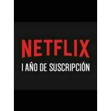 5 Pantallas 12 Meses Netflix Premium Uhd 4k 1 Año Oferta!!
