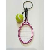 Llavero Raqueta Y Pelota De Tenis Rosada Deportes Mini