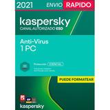 Licencia Original Kaspersky Antivirus 1 Pc 1 Año