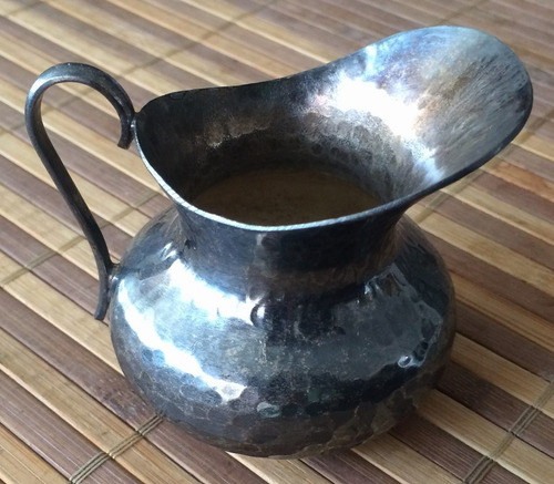 Jarra antigua peque a bronce con ba o en plata 0 925 for Bano de plata precio
