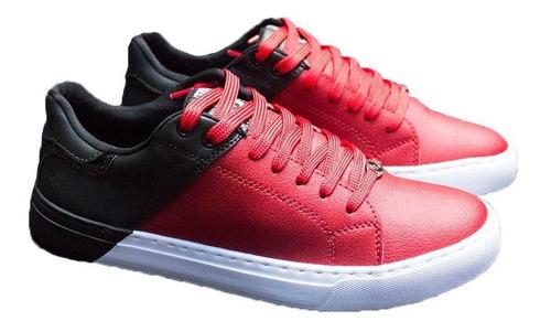 7e8e5e84 Tenis Zapatos De Hombre Bicolor Rojo Original Maxi