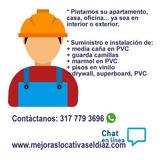Servicio Remodelaciones Pintura Media Caña Marmol Pvc Guarda