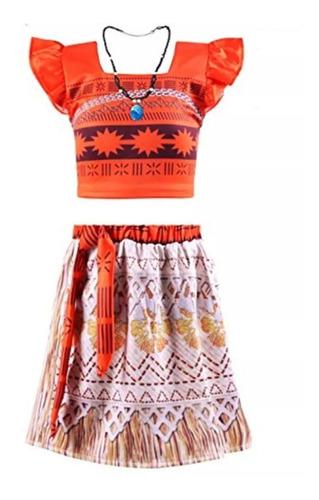 Disfraz Moana Vestido + Collar Ref 01