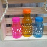Botella Recordatorios Personalizadas Envase Plastica 16cm