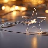 20 Luces Led Figuras Estrella