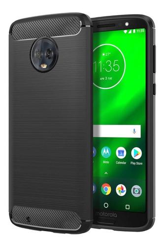 7215b987b87 Forro Motorola Moto G6 2018 5.7p Estuche Liviano Carbon
