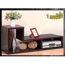 Mueble Modular Entretenimiento Biblioteca Hogar Tvlcd Decora