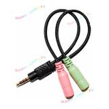 Cable Convertidor Adaptador Audio Y Microfono 3.5mm Ps4 Xbox