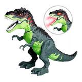 Dinosaurio Tiranosaurio Camina Humo Pone Huevo Luces Sonido
