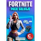 Salvaje Pack Fortnite + 600 Pavos Platafor(leer Descripcion)