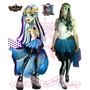 Disfraz Monster High Frankie Stein T. 18 Cosplay Halloween