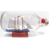 Barco Dentro De Botella Horizontal Mediano Decorativo Escala