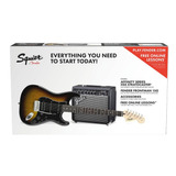Combo Guitarra Squier Strat Hss Brown Sunburst