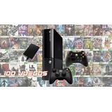 Xbox 360 Super Slim,  500gb,100 Juegos, 2 Controles,obsequio