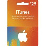 Tarjeta Itunes Apps Store 25 Usd Original Entrega Inmediata