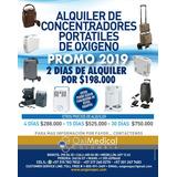 Alquiler Venta Concentrador Portatil Oxigeno Avianca Bogota