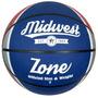 Baloncesto - Zona Midwest Blanco Azul Y Rojo De Goma Suave