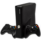 Xbox 360 Slim 4gb + 2controles + Juegos Super Precio
