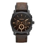 Reloj Fossil Machine Cronógrafo Cuero Hombre Fs4656 Original
