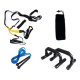 Kit Soporte Flexiones + Bandas Suspencion +lazo +bag+anclaje