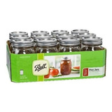 Ball Pint Mason Jars 16 Oz Set De 12