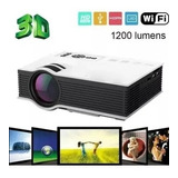 Mini Proyector Wifi Led Hd 1080p Hdmi Usb 1200 Lumens