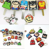 Protector De Llaves Animado Super Heroes Marvel Y Dc Comics.