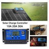 10/20 / 30a 12v / 24v Panel Solar Cargador Regulador De La B