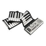 Piano Flexible Plegable Portátil 61 Teclas128 Tonos Altavoz