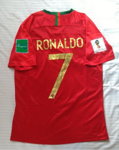 a2522f7bbc Camiseta Portugal Local Mundial 2018 Ronaldo Manga Corta