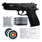 Pistola Beretta® P92 Full Metal 300 Balines Pipetas Co2 Gas