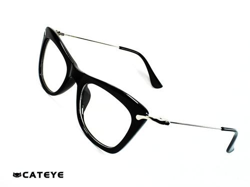 635aded513 Cateye® Cleopatra Black 49-19mm Montura Óptica® Opt0338
