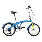 Bicicleta Plegable Dtfly Urban 2019 Shimano 6 Vel Rojo