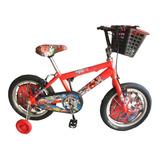 Bicicleta Para Niño Cars O Hombre Araña Rin 16