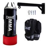 Saco De Boxeo Con Agarre Caray + Base Metálica+guante De Mma