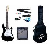 Combo Guitarra Strinberg Con Amplificador Accesorios