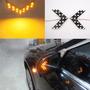 1 Par Luces Led Direccional Carro Moto Lujo Amarillas Espejo Daewoo