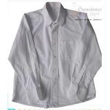 Camisa Colegial Cuello Corbata Blanca Adulto Manga Larga Dac