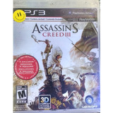 Assassing Creed 3 Ps3 Original Físico En Español