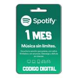 Tarjeta De Regalo Spotify 1 Mes $15.000 Colombia