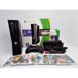 Xbox 360 Slim ,1 Control,10juegos 3.0 Caja