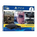 Consola Ps4 Hits Bundle + 3 Juegos + Plus 3 Meses Super Prec
