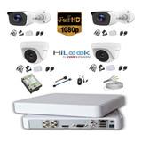 Kit Camaras De Seguridad 4 Ch 1080 + 4 Cam + D.d 1 Tb + Cabl